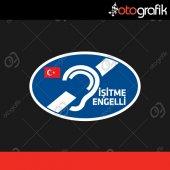 Otografik İşitme Engelli Renkli Oto Sticker