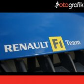 Otografik Renault F1 Team Oto Sticker Seti