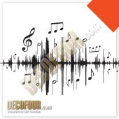 Decofour Müzikal Grafik Duvar Stıcker