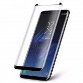 Samsung Galaxy S8 Plus 5d 3d Kavisli Kırılmaz Cam Tam Kaplama Ekr