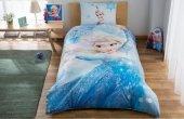Taç Lisanslı Disney Frozen Elsa Glitter Nevresim Takımı Tek Kişilik