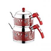 Kahramanlar Lale Çaydanlık Kırmızı Mega Boy