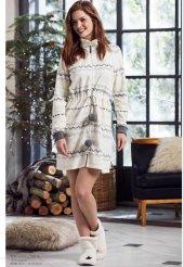 Penye Mood Bayan Polar Gecelik Elbise 8251