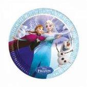 Frozen İce Skating Kağıt Tabak 23 Cm 8 Adetli