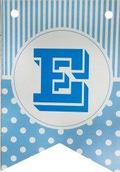 Bayrak Banner Harfler (E) Mavi