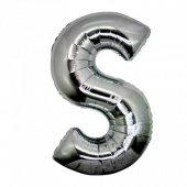 Folyo Balon Harf S Gümüş 40 İnc Helyum Balon Parti Doğum Günü