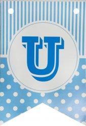 Banner Bayrak Harfler (U) Mavi