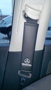 Mercedes Deri Emniyet Kemer Kılıfı Siyah