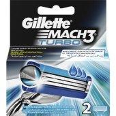 Gilette Mach 3 Turbo Yedek Tıraş Bıçağı 2li