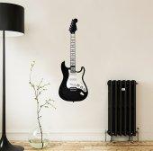 Metal Duvar Dekoru Fender Gitar
