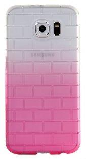 Samsung Galaxy S6 Kabartmalı Pembe Silikon Kılıf