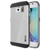 Samsung Galaxy S6 Edge Slicoo Dark Silver Kenarlı Kılıf