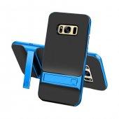 Samsung Galaxy S8 Plus Stand Mavi Kılıf