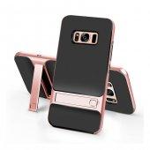 Samsung Galaxy S8 Stand Rose Gold Kılıf