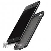 Baseus Plaid İphone 7 Siyah Şarjlı Kılıf 2500mah