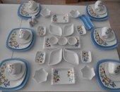 Keramika Mavi Butterfly Kahvaltı Takımı