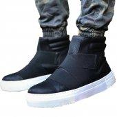 Chekich Erkek Günlük Spor Kışlık Bot Ayakkabı Siyah (Beyaz Taban)