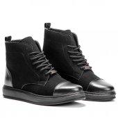 Chekich Erkek Günlük Spor Kışlık Süet Bot Ayakkabı Siyah