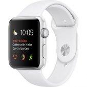 Apple Watch Seri 2 38mm Gümüş Rengi Alüminyum Kasa Ve Beyaz Spor