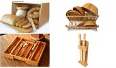 Bambum Mutfak Seti Kaşıklık Ekmek Dolabı Bulaşık Sepeti 6 P