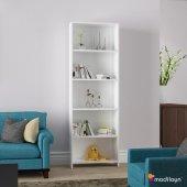 Modilayn Ard 204 5 Raflı Kitaplık Beyaz