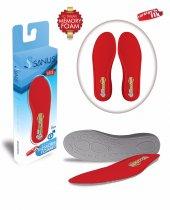 Sanus 100mdl Kırmızı Memory Foam Hafızalı Ayakkabı İç Tabanı