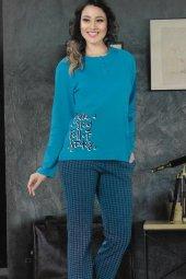 Bayan Pijama Takımı Petrol 4280