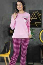 Bayan Pijama Takımı Pembe 4281