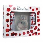 Emotion Romance Bayan Parfüm Seti 50ml Edt + 2 Adet 150ml Deo