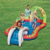 Şişme Çocuk Havuzu Su Fiskiyeli Ve Kaydıraklı