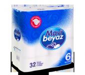 Mavi Beyaz Çift Kat Tuvalet Kağıdı 32li Mavi Beyaz