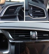 Honda Civic Fc5 2016 2019 Karbon Havalandırma Menfez Kaplama