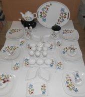 Keramika Beyaz Butterfly Kahvaltı Takımı
