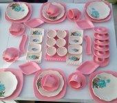 Keramika Pembe Rose Trend Kahvaltı Takımı