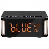 Musky Dy32l Led Işıklı Bluetooth Hoparlör, Masaüstü Çalar Saat