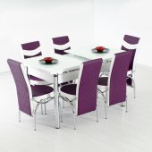 Evform Roma Açılır Mutfak Masası Takımı 6 Sandalye + Kelebek Masa
