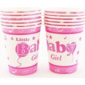 Beysüs Baby Shower Partisi İçin Bardak Pembe 12li