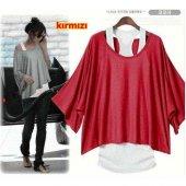 Japon Style Kadın Kırmızı Sporcu Bluz