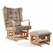 Tahterli Astoria Sallanır Emzirme Koltuğu Sandalyesi (Naturel) Kahve