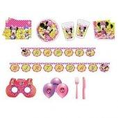 Minnie Mouse Temalı Doğumgünü Set 16 Kişilik