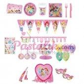 Prenses Temalı Doğum Günü Parti Seti 24 Kişilik Lüx