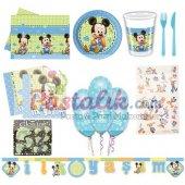 Bayby Mickey Mouse Temalı Doğum Günü Seti 16 Kişilik
