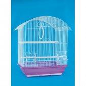 Yay Çatılı Kuş Kafesi Boyalı