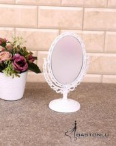 Dekoratif Oval Ayaklı 2 Boyutlu Masaüstü Küçük Ayna