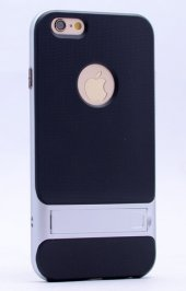 Iphone 6 Plus Gri Stantlı Kılıf