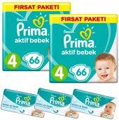Prima Bebek Bezi 4 Beden Maxi 132 Adet + 3 Adet Islak Mendil