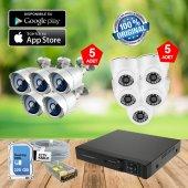 10 Kameralı Güvenlik Kamera Sistemi Harddisk Dahil Full Set