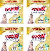 Goon Bebek Bezi Premium Soft 4 Beden 144 Li Jumbo Paket 9 14 Kg