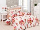 Belenay Tek Kişilik Uyku Seti Floral Kırmızı