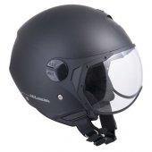 Açık Motosiklet Kaskı Cgm 107a Florance Sagomata Siyah Renk